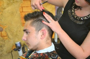 Hairstyle Man Hair Styling Beauty Salon Hairdresser